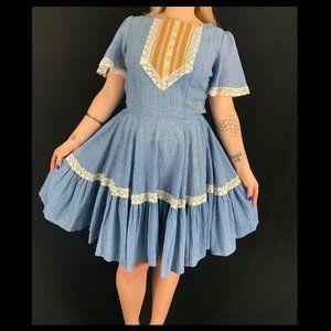 70s Square Dance Dress